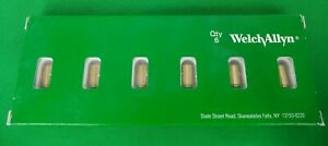 New Welch Allyn Genuine 03800 u Replacement Bulbs For 11810 11820 Panoptic Qty 6