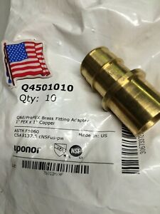 10 1 Uponor Propex X 1 Copper Fitting Adapter Wirsbo new Made In Usa