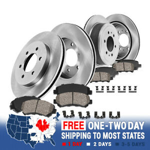 For 1993 1994 1995 1996 1997 Toyota Land Cruiser Front Rear Rotors Ceramic Pads