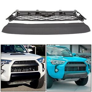 Front Bumper Mesh Grille Replacement Cover For Toyota 4runner Trd Pro 2014 Up