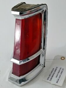Oem Lincoln Continental Mark Iii Rear Right Tail Light Assembly