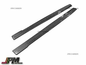 Carbon Fiber Side Skirt Add on Lip For 2015 2017 Bmw F82 M4 Coupe Convertible