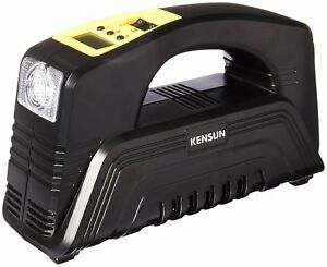 Kensun Ac Dc High Performance Air Compressor With Digital Gauge For Car And Home