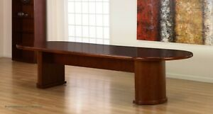 14 Ft Foot Real Wood Conference Table In Dark Cherry 168 X 48