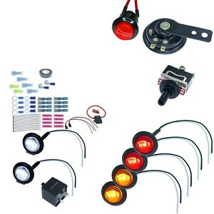 Universal Toggle Switch Turn Signal Light Kit With Horn Button For Sxs Atv Utv