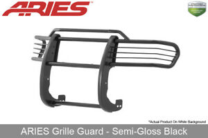 Aries Grille brush Guard Front 1pc Semi gloss Black For 2001 2004 Toyota Tacoma