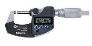 new Mitutoyo Digital Micrometer 293 344 30 0 1 0 25 4mm ip65