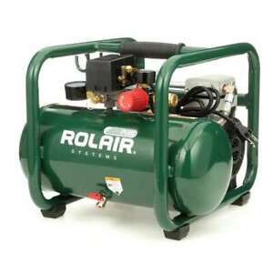Rolair Plus 2 5 Gallon Portable Electric Air Compressor For Tires tools used