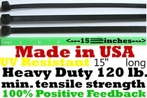 Cable Zip Ties 2000pcs Heavy Duty 120lb 14 Uv Resistant Black Made In The Usa