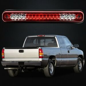 For 88 98 Chevy Gmc C K1500 Silverado Red Lens Led 3rd Brake Light Cargo Lamp