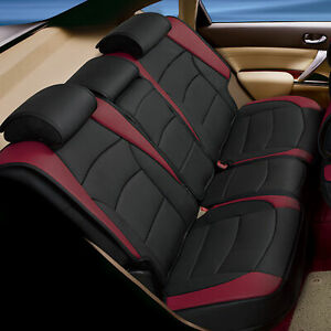 Car Suv Truck Leatherette Seat Cushion Covers Rear Bench Seats Burgundy