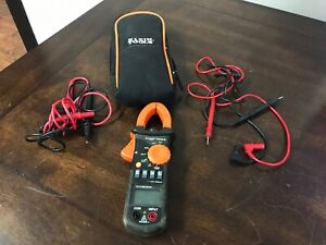 Klein Tools Cl200 Multimeter Cat Iii 600v W Clamp 2 Sets Of Leads Case Cv384