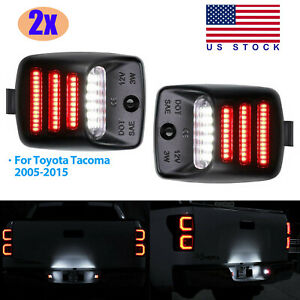 2x Red Oled Tube Full Led License Plate Light For Toyota Tacoma Tundra 2005 2015