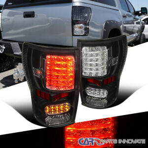 For 07 13 Toyota Tundra Black Led Tail Parking Lights Brake Lamps Left right