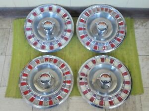 1958 Chrysler 300 Hub Caps 14 Set Of 4 Wheel Covers 58 C D Hubcaps