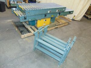 15 Belt Driven Hytrol Roller Conveyor Sections With Electric Motor Power Drive