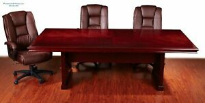 10 Ft Foot Real Wood Rectangle Conference Table In Cherry 120 X 48 Beautiful Top