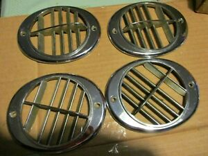 1956 57 Lincoln A c Chrome Air Conditioning Vents Set Of 4
