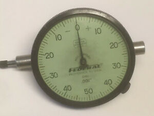 Federal D81 001 Dial Indicator Gauge Machinist Tool Jeweled Miracle Movement