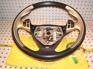 Saab 2007 9 3 Aero Front Dash Silver gray Steering Oe 1 Wheel With Side Switches
