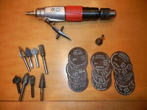 Georges Renault 1 4 Inline Pneumatic air Drill Mandrel Cutoff Wheels Burrs