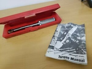 Snap On Torque Wrench No Qjr 217d Length 10 Has Case Instruction Manual