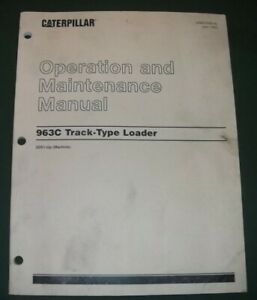 Cat Caterpillar 963c Track Loader Operation Maintenance Manual Book S n 2ds1