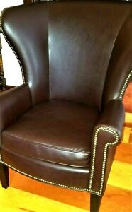 Leather Chair Mitchell Gold Writers Chair Polo Style Club Chair