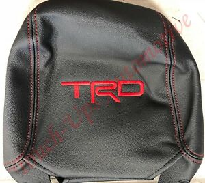 Fits 2011 2020 Toyota 4runner Alea Black Red Leather Seat Covers Kit Trd Logos