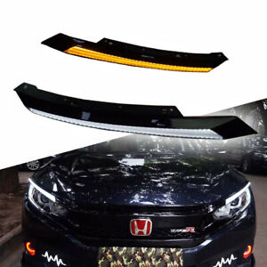 Drl Led Sequential Flasher Turn Signal Light Amber white Switchback Arrow Strips