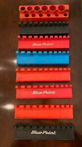 Mechanics Time Saver Blue Point Wrench Socket Holders Magnetic Back 8 Pieces