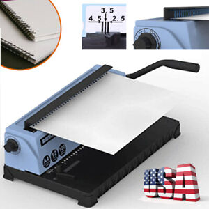 34holes Manual Punching Binding Machine Steel Spiral Coil Binder For 4mm Holes