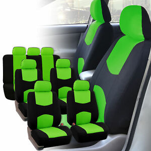 Car Seat Covers 3 Row For Auto Suv Van 7 Seaters Green