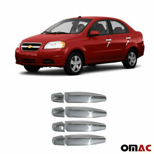 Fits Chevrolet Aveo 2007 2011 Chrome Door Handle Cover Trim S Steel 8 Pcs 4 Door