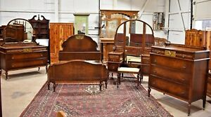 Antique 5 Piece Walnut Bedroom Set By A C Norquist Co