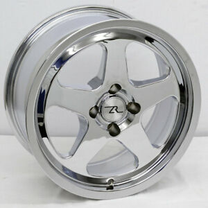 17 Chrome Mustang Saleen Sc Replica Wheels Deep Dish 17x8 17x10 4x108 79 93 Fox
