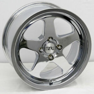 17 Chrome Mustang Saleen Sc Replica Wheels Deep Dish 17x9 17x10 4x108 79 93 Fox