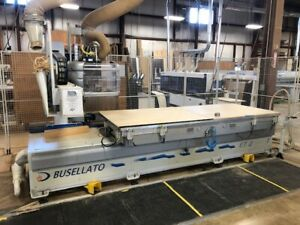 Busellato Jet 200rt Cnc Router Flat Table With Push off 4x10 Travaini Vac Pump