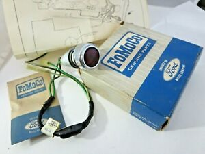 1965 66 Nos Galaxie Ltd Under dash Parking Brake Warning Light Signal Lamp Kit