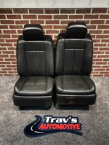 2007 14 Ford Expedition Leather Front Bucket Seats Heated Cooled Nice L K