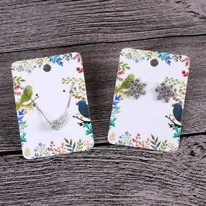 Handmade Packing Cards For Earring Stud Necklace Display 100 Pcs