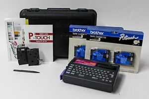 Brother P touch Pt 20 Electronic Labeling System W Tape Cassette Case Manual