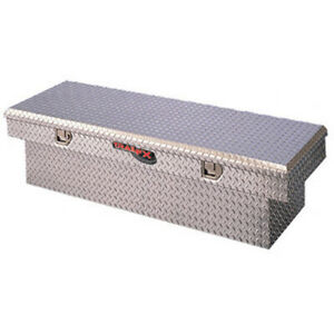 Diamond Tread Aluminum Angled Crossover Truck Tool Box 60x13 5x19 25in