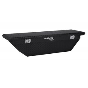 Diamond Tread Black Gloss Angled Lp Crossover Truck Tool Box 60x13 5x19 25in