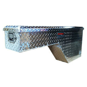 Diamond Tread Polished Aluminum Wheel Well Truck Tool Box 48x18x8in