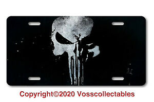 Punisher Style License Plate Car Auto Truck Suv Large Skull Tag Vanity Front Usa