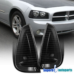 For 2006 2010 Dodge Charger Corner Lamps Trun Signal Stop Lights Black