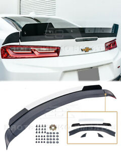 Rear Spoiler For 16 up Camaro 1le Extended Track Style Trunk Wickerbill Wing