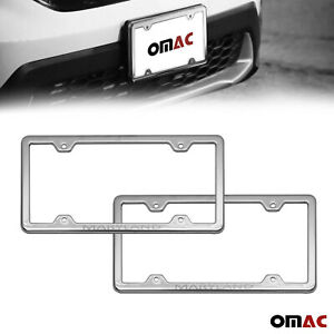Maryland Print License Plate Frame Chrome S Steel 2 Pcs Fits Toyota Corolla