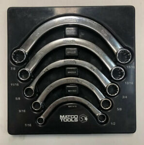 Matco Tools Smh5t 5 Piece Sae Half Moon Wrench Set 12 Pt Double Box End